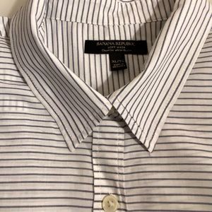 Banana Republic | Striped Boyfriend Shirt | Sz XL